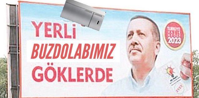 erdoğan yerli buzdolabımız göklerde