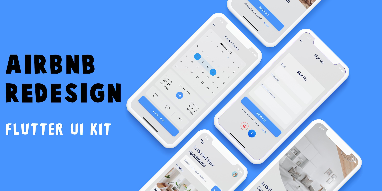 AirBnB Redesign Flutter UI Kit