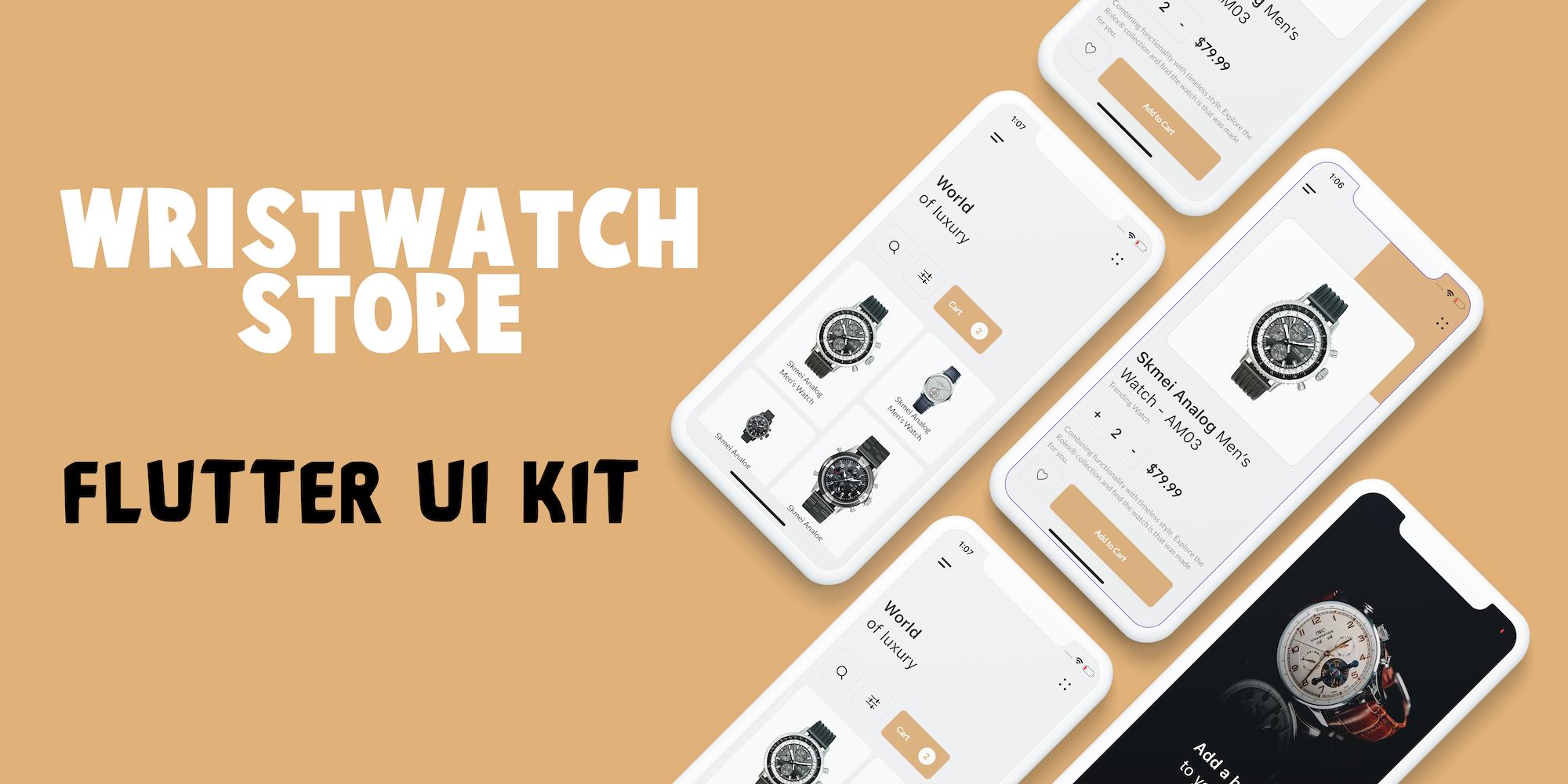 Wrist Watch Store UI Kit