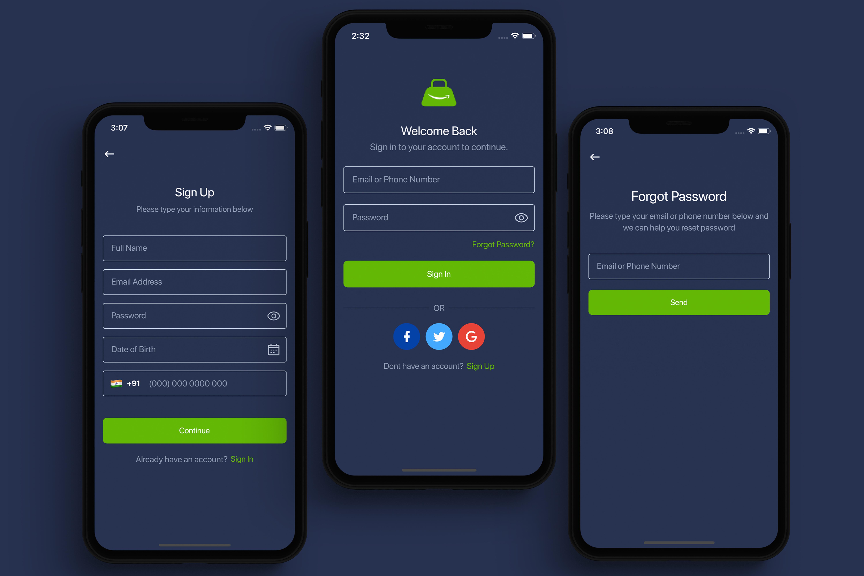 Flutter Online Grocery UI Kit - 1