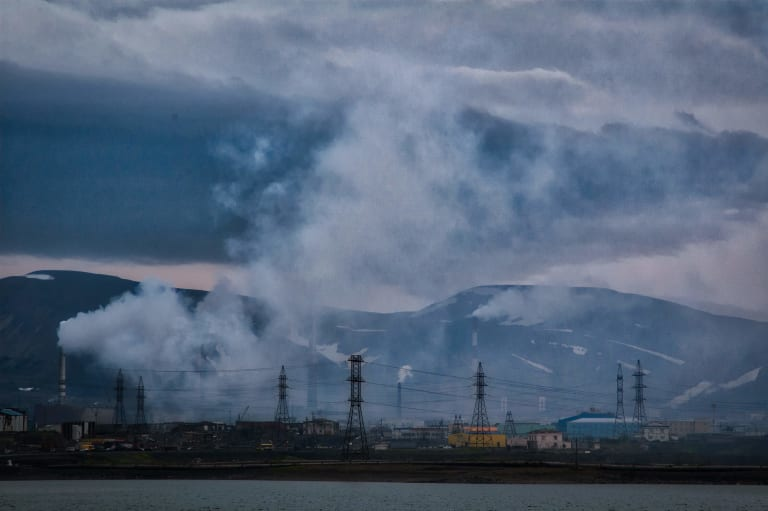 Индустриальный пейзаж Норильска