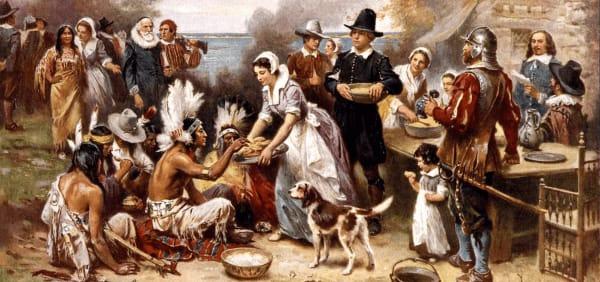 Первый День благодарения, художник Жан Луи Жером Ферри