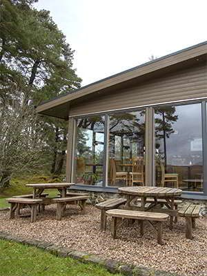 Old Pines dining room, outside