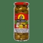 # Figaro oliven grønn m/hvitløk store 350 g