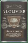 A L'Olivier olivenolje m/trøffel & porcini 250 ml