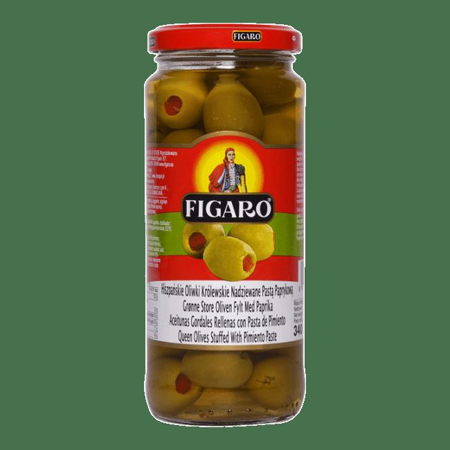 4e01da282 Figaro oliven grønn m/paprika store 340 g Oluf - Oluf netthandel