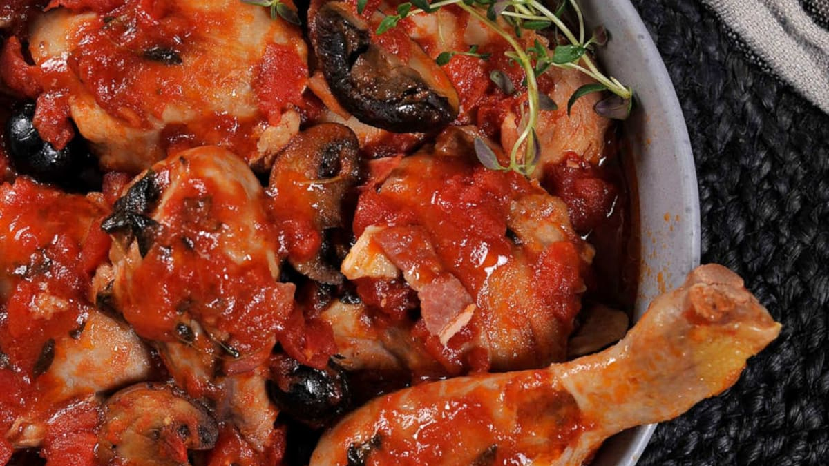 Brasserte kyllinglår med bacon