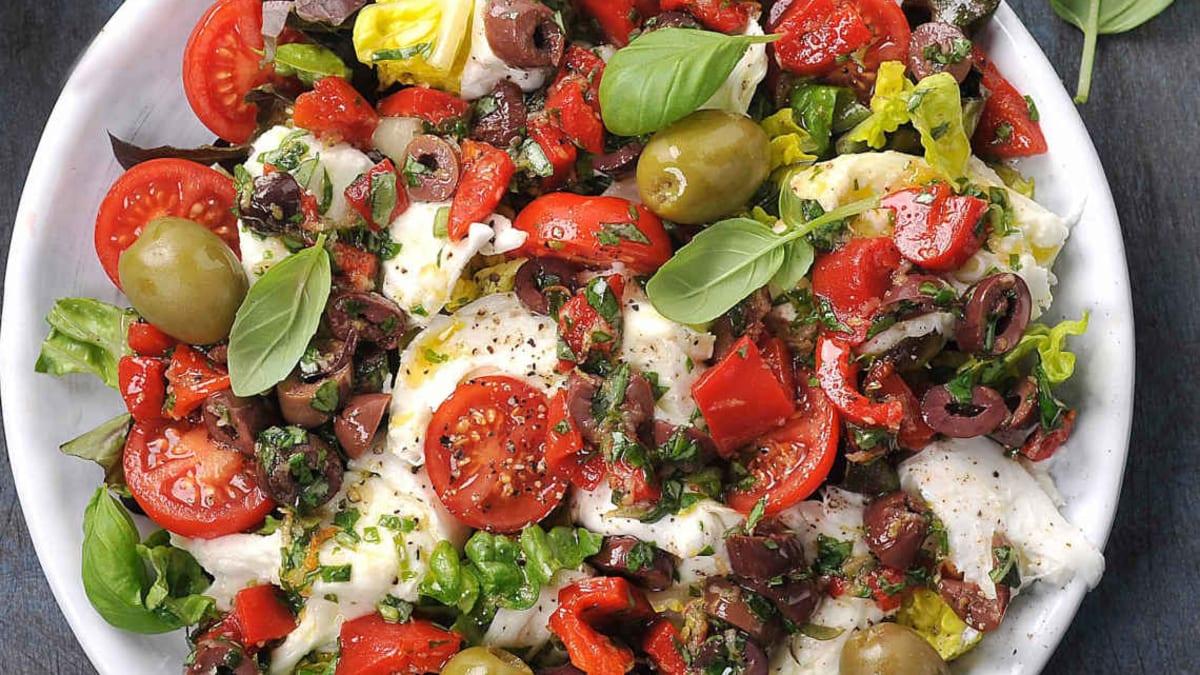 Mozzarella med olivengremolata