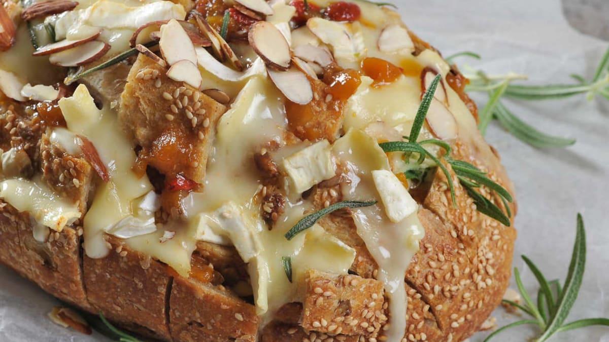 Pull apart bread med Brie de Paris