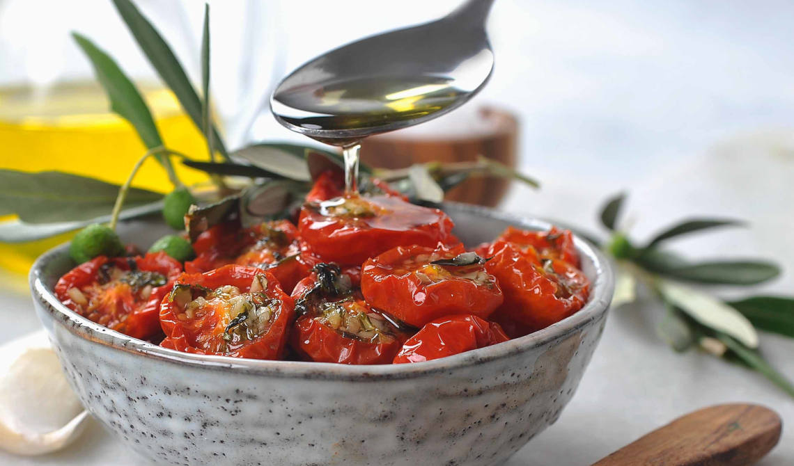Semitørkede tomater