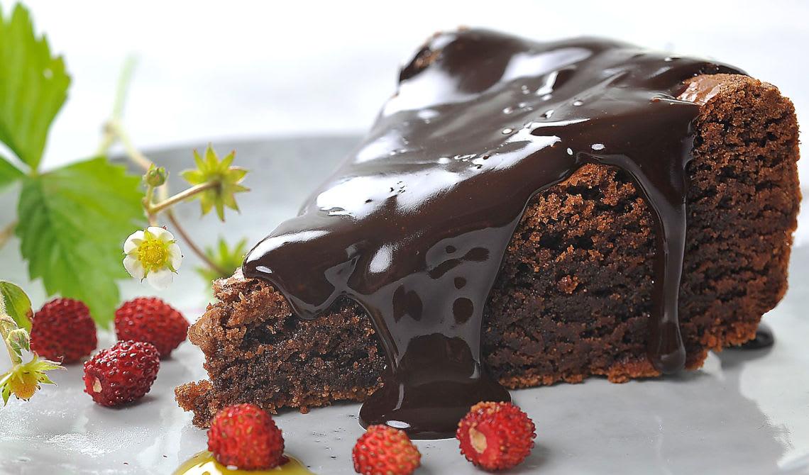 Sjokoladekake med salt sjokoladegnache