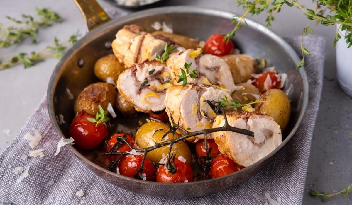 Kyllingbryst fylt med parmaskinke og parmesan