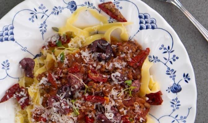 Kjøttdeig med soltørkede tomater