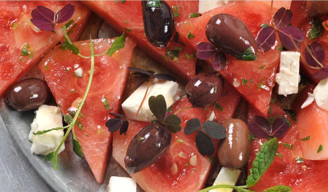 Sommersalat med oliven