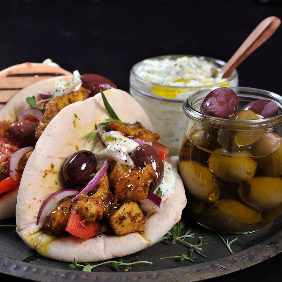 Gyros med kylling og oliven