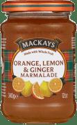 Mackays appelsin, sitron, ingefær marmelade 340g