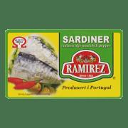 Ramirez sardiner i olivenolje chili 124 g