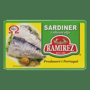 Ramirez sardiner i olivenolje 124 g