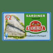 Ramirez sardiner naturell 125 g