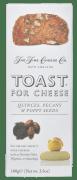 Toast for cheese kvede, pekan og valmuefrø 100 g