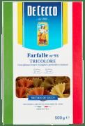 De Cecco farfalle (sløyfer) tricolore 500 g