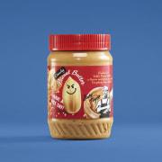 Sticky Fingers peanøttsmør grov 462 g