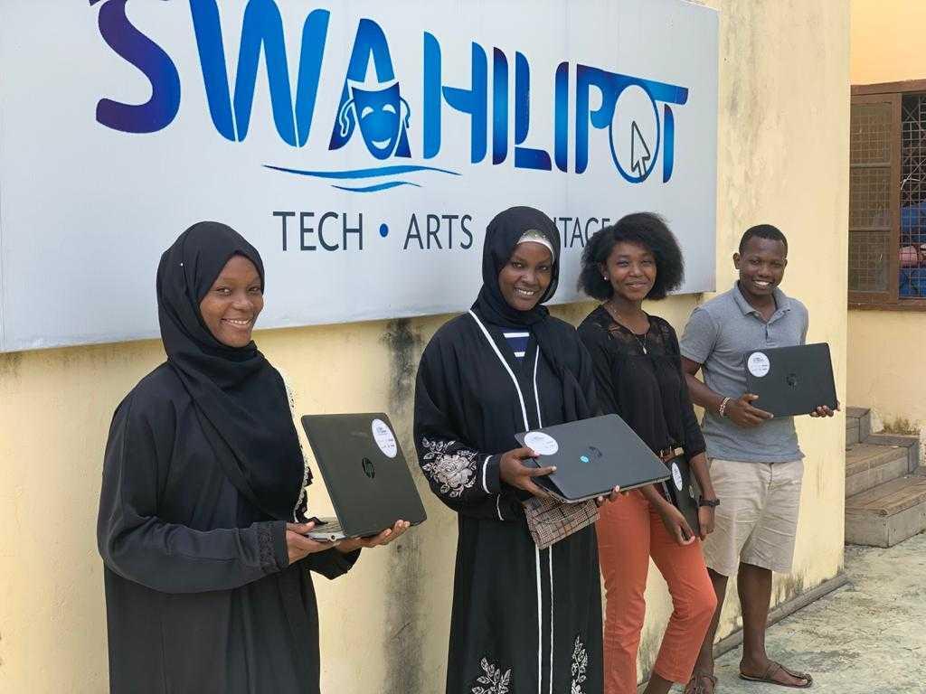 Cohort II interns at Swahilipot Hub, Kenya