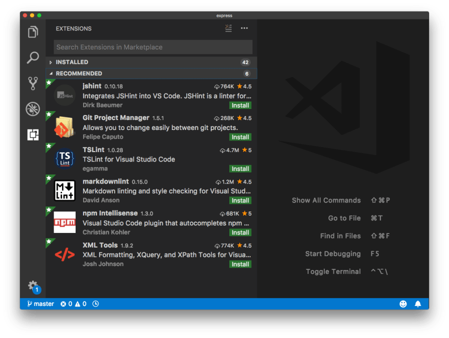 Recommended Extensions