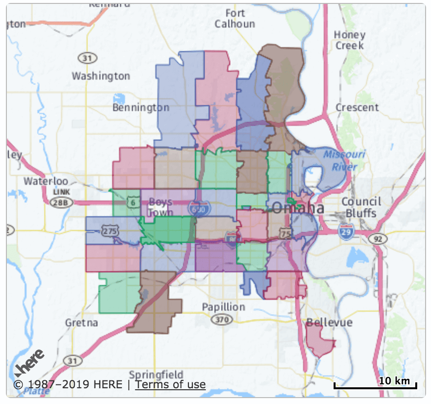 Omaha Zip Code Map | 48 Zip Codes in Omaha, Nebraska