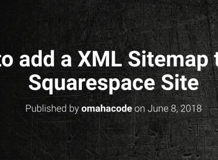 Squarespace Google Sitemap Tutorial