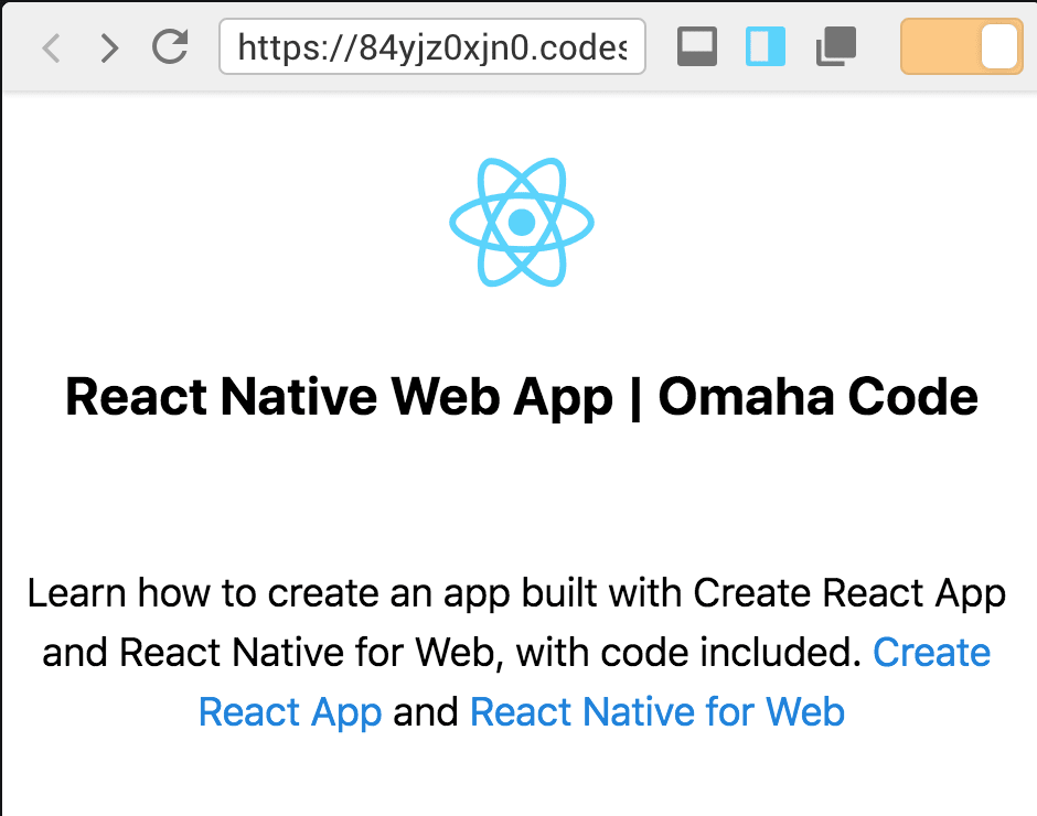 How to Create a React Native Web App.