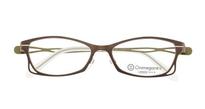 オニメガネ OG7205-LBR メガネを試着で購入