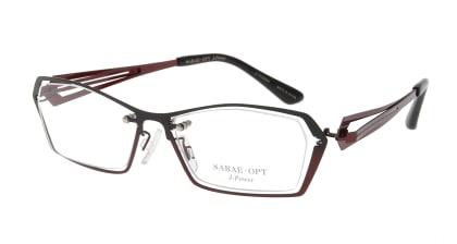 スーン 001-BKG/RE メガネを試着で購入
