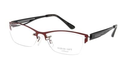 スーン 003-RD/BK メガネを試着で購入
