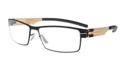 アイシーベルリン Peter C. (flex)-black-matt gold-clear メガネを試着で購入