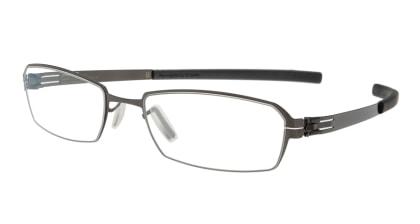 アイシーベルリン solal (flex)-gun metal-rx clear メガネを試着で購入