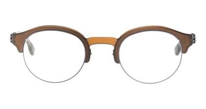 アイシーベルリン Dahlem-Gun-Metal-Tapenade-Milky -RX-Clear -Mittwoch メガネを試着で購入