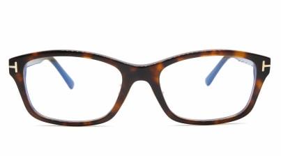 トムフォード FT5724DB AsianFit BLUE BLOCK FILTER-052-56 メガネを試着で購入