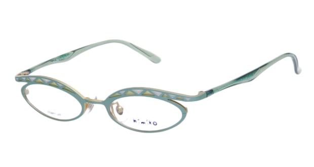 【送料無料】ティフィール HIMIKO-2 メガネ(眼鏡) オーバル Ti-feel-HIMIKO-2 グリーン 緑 メタルフレーム フルリム Ti-feel 度付き 伊達メガネ 即日発送 ユニセックス