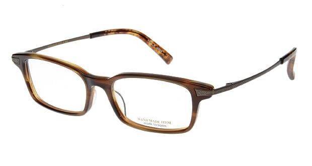 【送料無料】ハンドメイドアイテム H4002-3 メガネ(眼鏡) スクエア hand-made-item-H4002-3 ブラウン 茶 セルフレーム フルリム HAND MADE ITEM 度付き 伊達メガネ 即日発送 ユニセックス