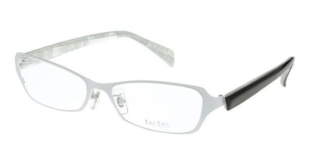 <Oh My Glasses TOKYO> 送料無料!ツェツェ T2301-3 メガネ(眼鏡) スクエア tsetse-t2301-3 ホワイト 白 セルフレーム フルリム tse tse 度付き 伊達メガネ 即日発送 メンズ画像