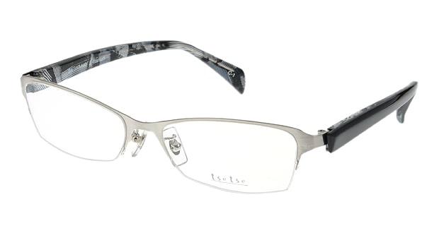 <Oh My Glasses TOKYO> 送料無料!ツェツェ T2302-1 メガネ(眼鏡) スクエア tsetse-t2302-1 シルバー 銀 セルフレーム ハーフリム tse tse 度付き 伊達メガネ 即日発送 メンズ画像