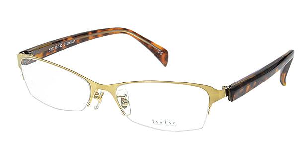 <Oh My Glasses TOKYO> 送料無料!ツェツェ T2302-5 メガネ(眼鏡) スクエア tsetse-t2302-5 ゴールド 金 セルフレーム ハーフリム tse tse 度付き 伊達メガネ 即日発送 メンズ画像