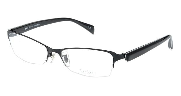 <Oh My Glasses TOKYO> 送料無料!ツェツェ T2302-6 メガネ(眼鏡) スクエア tsetse-t2302-6 ブラック 黒 セルフレーム ハーフリム tse tse 度付き 伊達メガネ 即日発送 メンズ画像