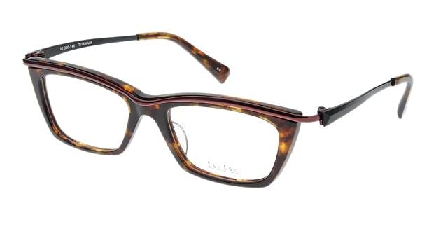 <Oh My Glasses TOKYO> 送料無料!ツェツェ T2204-3 メガネ(眼鏡) ウェリントン tsetse-t2204-3 ブラウン 茶 メタルフレーム フルリム tse tse 度付き 伊達メガネ 即日発送 メンズ画像