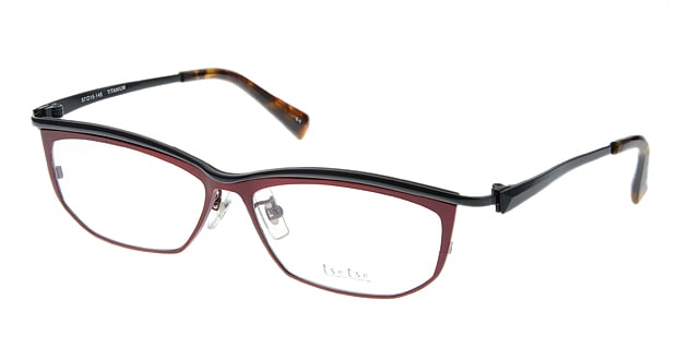 <Oh My Glasses TOKYO> 送料無料!ツェツェ T2205-5 メガネ(眼鏡) スクエア tsetse-t2205-5 レッド 赤 メタルフレーム フルリム tse tse 度付き 伊達メガネ 即日発送 メンズ画像