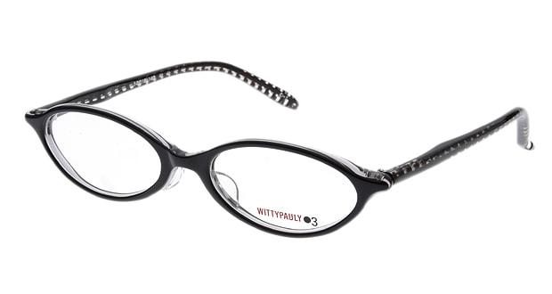 <Oh My Glasses TOKYO> 送料無料!ウィッティポーリー03 03-112-1 メガネ(眼鏡) オーバル wittypauly03-03-112-1 ブラック 黒 セルフレーム フルリム WITTYPAULY03 度付き 伊達メガネ 即日発送 レディース画像