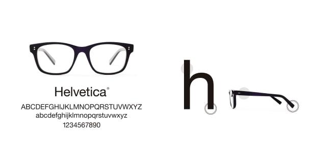 TYPE(Type) TYPE Helvetica Regular-Black Sunglasses