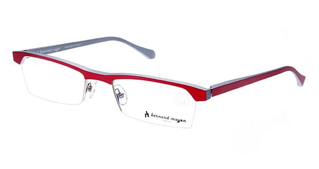 【送料無料】バーナード モワイヤン ARGON-111 メガネ(眼鏡) スクエア bernard-moyen-argon-111 レッド 赤 メタルフレーム ハーフリム bernard moyen 度付き 伊達メガネ 即日発送 ユニセックス