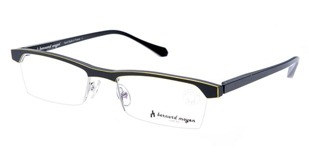 【送料無料】バーナード モワイヤン ARGON-112 メガネ(眼鏡) スクエア bernard-moyen-argon-112 ブラック 黒 メタルフレーム ハーフリム bernard moyen 度付き 伊達メガネ 即日発送 ユニセックス